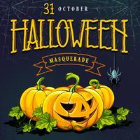 Design de vetor de cartão de convite de Halloween
