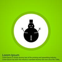 icône de l'homme de neige de vecteur