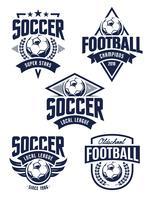 Vector voetbal emblemen