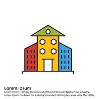 Icono de edificios vectoriales