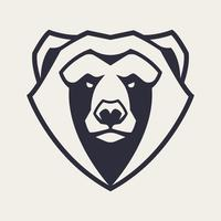 Bear Mascot Vector Icon