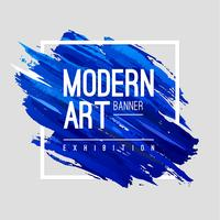 Banner de arte moderna