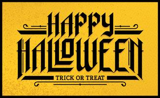 Letras góticas desenhadas à mão de Halloween