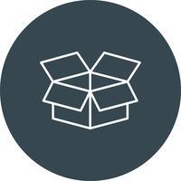 Ícone de caixa de vetor