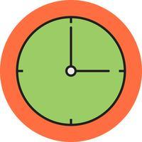 Icono de línea de reloj lleno
