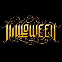 Halloween handgetekende gotische letters