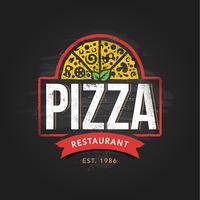 Modelo de logotipo de pizzaria