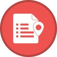 Document location setting glyph multi color background icon
