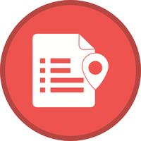 Document location setting glyph multi color background icon
