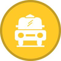 Cab filled multi color background icon