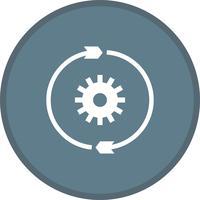 Ícone de plano de fundo do glifo multi cor de configurações de conversão