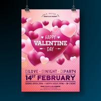 Vector Valentines Day Party Flyer