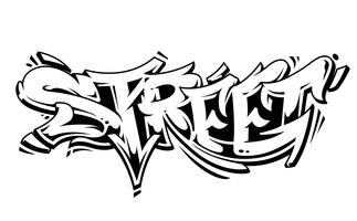 Street Graffiti Vector Lettrage