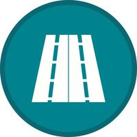 Two way road background icon vector