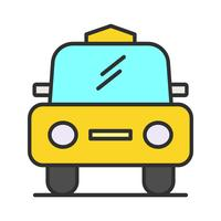 Cab line filled icon