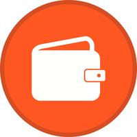 Wallet filled multi color background icon