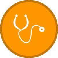 Runder Kreis des Stethoskopglyphenrunden Kreises BG