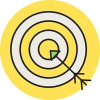 Economic target line filled icon