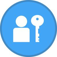 User authentication filled icon vector