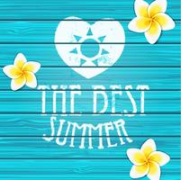 Wooden background Summer. vector