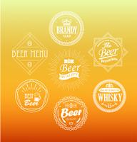 Emblemas de cerveza, vector.