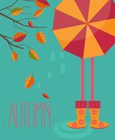 Temporada de otoño en estilo plano.