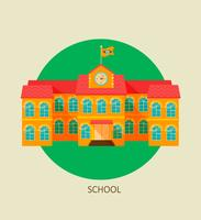 Classical school building icon. vector