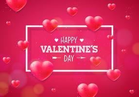 Felice giorno di San Valentino illustrazione