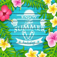 Enjoy the summer holiday. vector