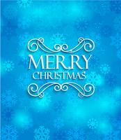 Merry Christmas on blue background.