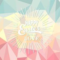 Joyeuses Pâques sur fond polygonale.