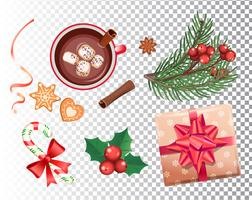 Christmas set for holidays. vector
