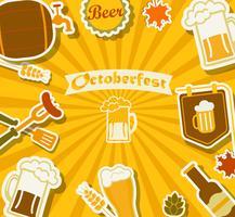 Bierfest - Oktoberfest. vektor