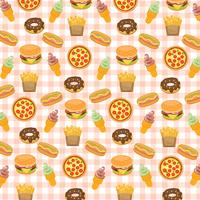 Fast food background.
