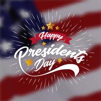 Happy Presidents Day Banner Background and Greeting Cards. Vector Illustration