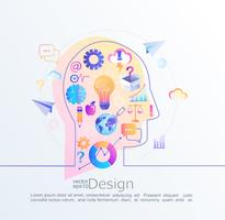 Concepto creativo de la idea.