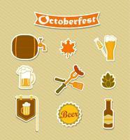 Oktoberfest öl bryggeri ikoner uppsättning.