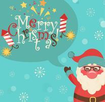 Weihnachtsmann und Blase mit Schriftzug.