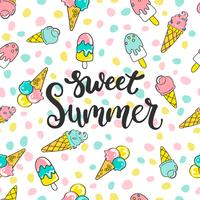Sweet summer pattern. vector