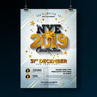 2019 New Year Party Celebration Poster