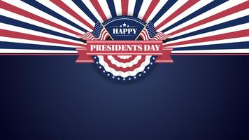Happy Presidents Day Banner sfondo e cartoline d'auguri. Illustrazione vettoriale