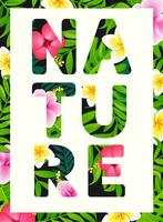Tropical print slogan. vector