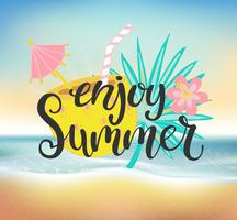 Enjoy summer beach party. vector