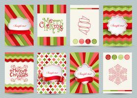 Conjunto de plantillas de folletos de Navidad.
