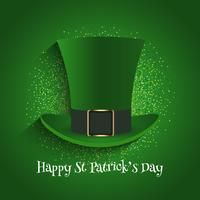 St Patrick's Day background with top hat and glitter
