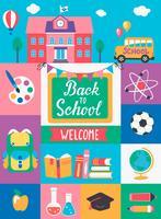 Bienvenido de nuevo al colegio. vector