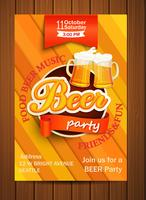 Beer party flyer.
