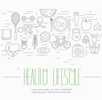 Set di simboli di stile di vita sano