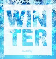 Winter is coming print slogan. vector