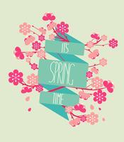 Illustration vectorielle - saison de printemps.